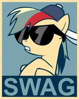 Rainbow Dash Swag poster by Fluffytuzki
