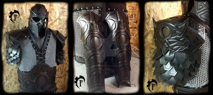 Owl theme dwarvish leather armor by Feral-Workshop