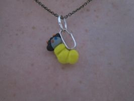 Sollux grub necklace charm by CactusLuv