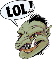 The Laughing Troll by SmudgeDragon