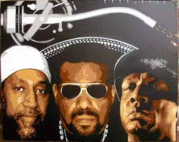 The Holy Trinity of Hiphop by sykonurse