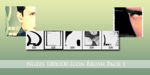 Ngees 100x100 Pixel Brushes 1 by ngee