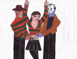 Fun With Freddy and Jason by Dragon-hobbit101