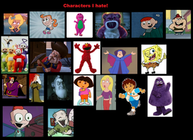 My top 20 hated characters. by Smurfette123