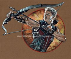 THE AVENGERS - HAWKEYE (2014) by scotty309