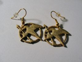 Mocking Jay earrings by silverbeam