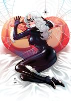 Jim Cheung X 13Wishes : Black Cat NYCC 2014 by 13wishes