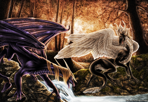 Forest dragons by UglyDucklingArt