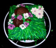 Easter Cake- Family size by MorbidKittyCorpse