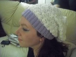 Crocheted Slouchy Hat by krizpie