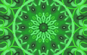 kaleidoscope Green Tears by Saberryna