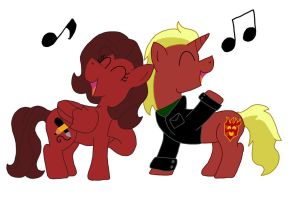 Fire Rose Duet by Numbuh-27