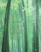 Bamboo Forest by katie-kat18