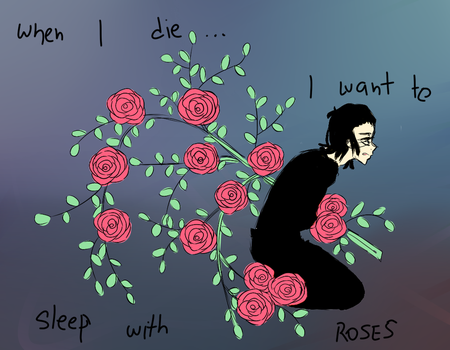 _: sleep with roses :_ by IdiotApprentice