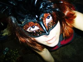 My mask for prom by LittleAlyce