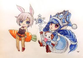 Winter Wonder Lulu x Battle Bunny Riven by Splashpearl