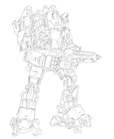 Titanfall mech design - WIP by dishwasher1910