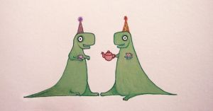 Tea Rex Party by CheshireSpider
