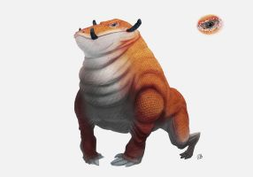 Orange beast concept art by FelixLB