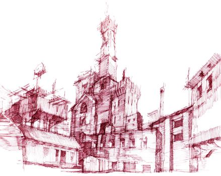 Void City Sketch by Void-of-Samael