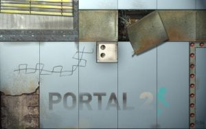 PORTAL 2 WALLPAPER With logo by REALTRASE