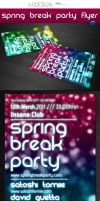 Spring Break Flyer Template by andre2886