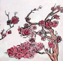 Cherry Tree and Blossoms by kimberly-castello