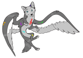 CLOSED Auction [Winged Wolf- Melodic] by SmeeteryAdopts