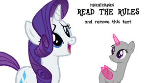 MLP Base: OC x Rarity by DashieBases