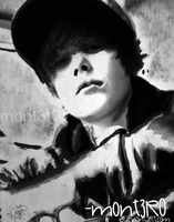 Justin Bieber painting by mont3r0