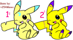 Pikachu Adoptables 5 POINTS EACH!! by BKL-Pokemon-Trainer