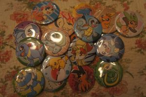 Pokebuttons FOR SALE by LordBoop