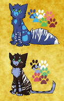 Streampaw and Swiftpaw by woodsybirds