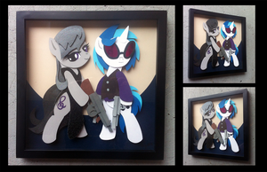 Commission:  Mafia Octavia and Vinyl Scratch by The-Paper-Pony
