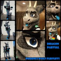 Dragon partial fursuit by phoenixwolf33