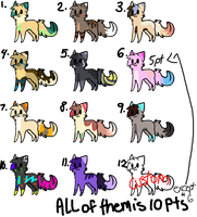 *Adoptables #12* (OPEN) by Chouchou-adoptables