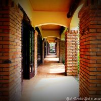 Orange Brick Hall by morrigan-erinyes