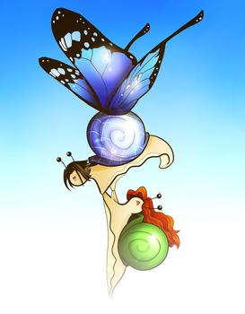 The Epic Butterfly Snail by BethanyFrye