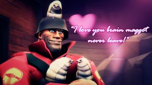 SFM Poster: I love you brain maggot by PatrickJr
