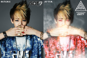 BEFORE AND AFTER : GOT7 - BAMBAM by ExoticGeneration21