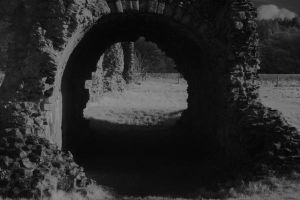Waverley Abbey Arch-way by ethelthegoat