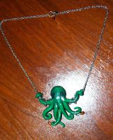 Octopus Necklace by MadHatterBata