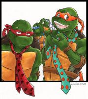TMNT: Wearing Ties by loolaa