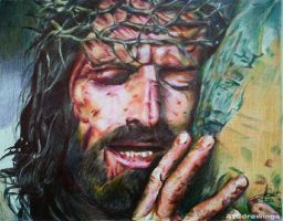 Passion Of The Christ - Ballpoint Pen Drawing by ATCdrawings