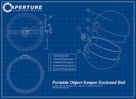 Portal meets Pokemon : Aperture Pokeball by Dixbit