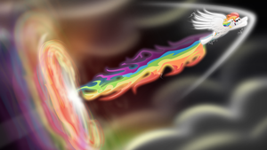 Supersonic Rainboom by Tajarnia