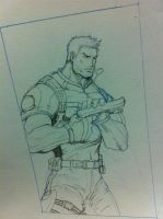 Chris redfield re5 by Tomuribecastro