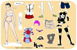 Darcy Paperdoll by supersuper