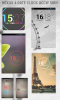 Nexus 4 Date Clock UCCW Skin by 8168055