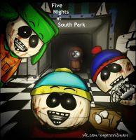 Five nights at south park xD by SuperEvilMan